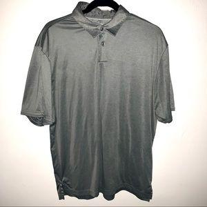Ashworth Silver Gray Two Tone Polo Golf Shirt Med.